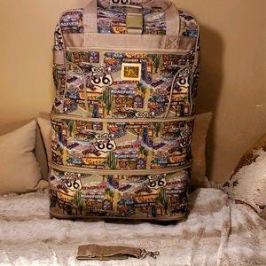 RARE Vintage Route 66 Travel Bag